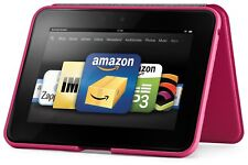 kindle fire HD Standing Leather Cover - Pink