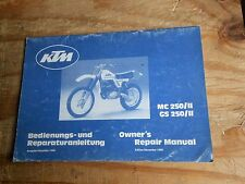 KTM 81 CHASSIS ENGINE Repair Assembly Manual MC 250/II GS 250/II German English