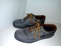 Polo Ralph Lauren Vaughn Men's Gray Canvas Fashion Sneakers Shoes Size 8.5D