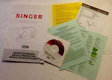 Singer Fashion Mate 7256 Instruction Manual Original & Ready Set Sew DVD + More