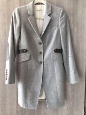 New Scapa Women's Virgin Wool Leather Jacket Grey Size 36