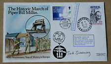 MARCH OF PIPER BILL MILLIN 1985 COVER PEGASUS BRIDGE SIGNED BY COL. TOD SWEENEY