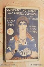 COMMENT SE TIRER LES CARTES SOI-MEME (1195MA.0.2) MME ATHENA 1938