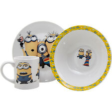 3pc Minions Breakfast Set Kids Ceramic Plate Bowl Mug Children Porcelain Dinner  sc 1 st  eBay & Buy Childrenu0027s Porcelain Bowls Plates and Cups | eBay