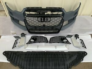 RS6 Style Front Bumper kit with Quattro grill fits for 2012-2015 C7.0 Audi A6/S6