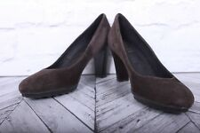 JONES RRP £79 EU 39 Classic Brown Mushroom Suede Leather Court Pumps High Heels