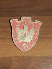 Altes Abzeichen aus Pappe 75 Jahre Freiwillige Feuerwehr Templin 1883-1958 Look