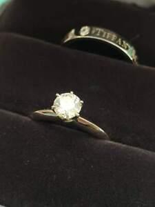 Tiffany & Co Platinum Diamond Engagement Ring & Band Set