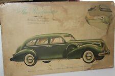 1939 BUICK ROADMASTER MODEL 81 SEDAN DEALER SHOWROOM DISPLAY POSTER