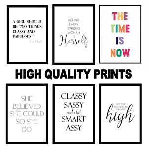 Room Work Inspirational Prints Motivational Wall Art Quote Peel & Stick Posters