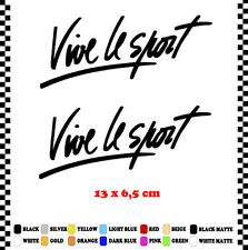 PEGATINA/STICKER/DECAL/AUFKLEBER/VINYL VIVE LE SPORT
