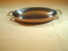 Paul Revere Limited Edition Copper Oval Baking pan- Fish- Au gratin-Paella 12x8""