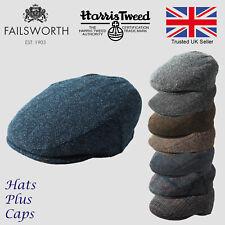 Failsworth Genuine Harris Tweed Stornoway Flat Cap Scottish Bunnet 100% Wool Hat