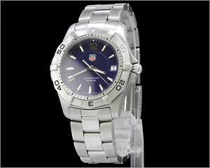 TAG Heuer Aquaracer Men's Dive Watch Blue Dial WAF1113