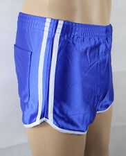Französische Sporthose Nylon Glanzshorts Boxer Shorts Badeshorts blau D9 XXXL