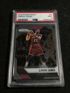 LEBRON JAMES 2016-17 PANINI PRIZM #31 CAVS PSA 9 MINT