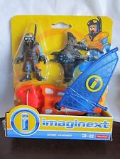 Fisher-Price Imaginext Deep Sea Wind Jammer Scuba Diver Sting Manta Ray Toy 2015