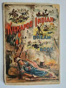 Late 1800's Kickapoo Indian Medicine Dream Book New Haven CT NO Reserve