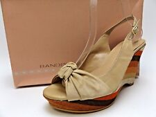 BANDOLINO Shakin Women's  NATURAL Multicolor Wedges Shoes SZ  10.0 M New M798