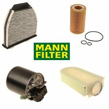 Mercedes-Benz W212 E250 2014 W204 GLK250 2013-2014 Complete Filter Kit OEM Mann
