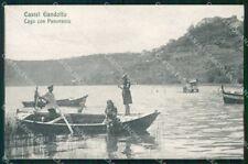 Roma Castel Gandolfo Lago con Barche cartolina RB7254