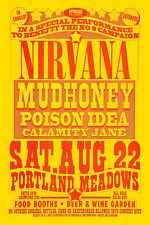 1980's Grunge: Nirvana & Mudhoney at Portland Concert Poster 1992