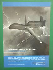 8/2005 PUB NORTHROP GRUMMAN UAV DRONE GLOBAL HAWK USAF ORIGINAL AD