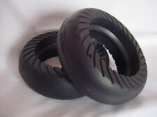 """Two Oem Go-Ped Go-Active 6"""" Hard Rubber Tires for Mach 12 or 3-Spoke Type Wheel"""