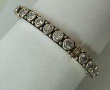 Czs, Amazing Clasp, Konder #359 Vintage Hinged Bracelet 5mm White