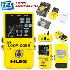 NUX Loop Core Guitar Effect Pedal Built-in Drum 6 Hours Recording Time 9V DC US
