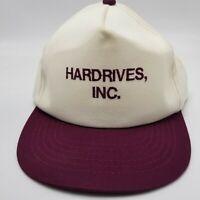 Hardrives Inc Hat Cap Computer White Adjustable Snapback Used W2