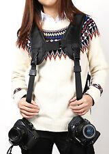 Appareil photo bandoulière double épaule sling sangle pour Nikon Canon Sony