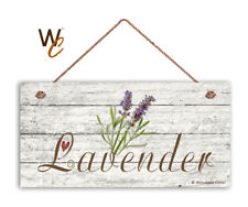 "Lavender Sign, Rustic Style Garden Sign,  5"" x 10"" Wood Herb Sign, Kitchen"