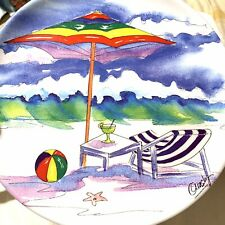 Precidio  Melamine Snack Dish Ocean Beach Chair Beach Ball Umbrella