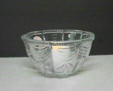 Indonesian Crystal Glass Bowl Votive Candle Holder