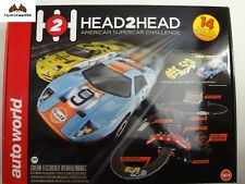 Auto World H2H Head2Head American Supercar Challenge Electric Slot Car Set - 19B