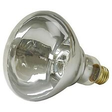 HEAT LAMP BULB Brass Base Threaded Glass Poultry Brooders Animal Rearing 125W