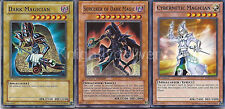 Sorcerer of Dark Magic + Dark Magician + Cybernetic Magician -Near Mint Yugioh