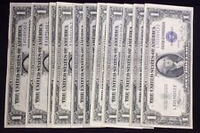 Lot of 14 Uncirculated 1935 $1 One Dollar Silver Certificates Blue Seal