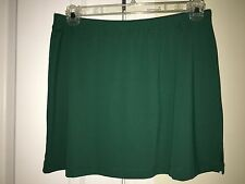 TAIL Tech Tennis Golf Athletic SKIRT No Inner Shorts Large 10 12 Green  Stretch