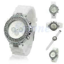 ORIGINAL Stylish white Geneva Rhinestone Watch for Women/girls/ladies.Partywear