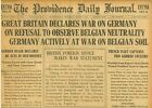 Britain declares war on Germany Lusitania leaves New York August 5 1914 B37