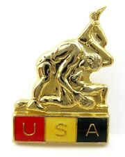 USA Wrestling Federation Great Lapel Pin Badge