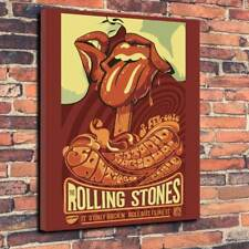 "The Rolling Stones Printed Canvas Picture A1.30""x20""..30mm Deep Rock Mick Jagger"