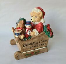 """San Francisco Music Box Company Bears in a Sleigh """"I'll Be Home For Christmas"""""""