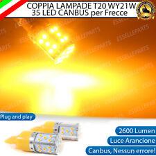 COPPIA LAMPADE T20 WY21W CANBUS LED PER CHEVROLET CRUZE J300 FRECCE POSTERIORI
