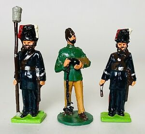 Group of 3 Vintage Painted Metal Figures