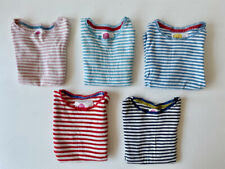 Lot of 5 Used Mini Boden Striped Long Sleeve Tees, Size 7-8