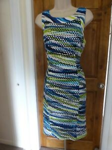 Pretty blue and white cut  out detail shift dress from Frank Lyman size 12