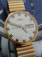 Mens Large Vintage MIDO Ocean Star Datoday Day Date Automatic Wrist Watch 5089